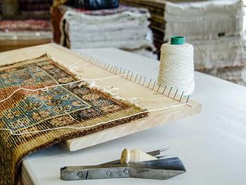 Rifacimento frange tappeto