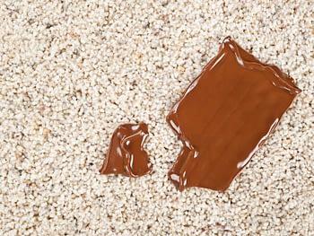 macchia cioccolato sul tappeto