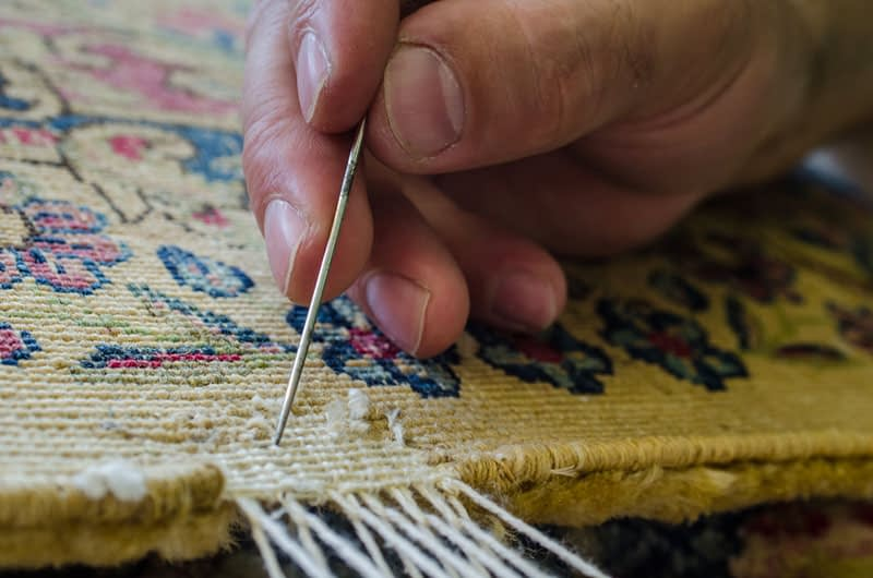 Restauro tappeto antico Milano